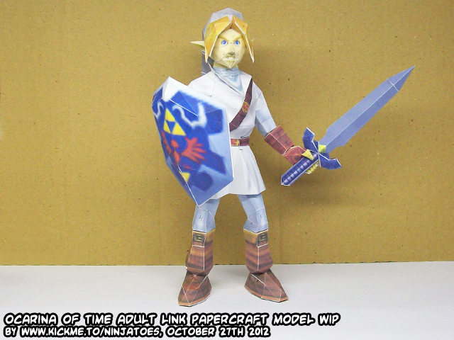 Papercraft Zelda OoT Menu Link - A call to arms! by ninjatoespapercraft