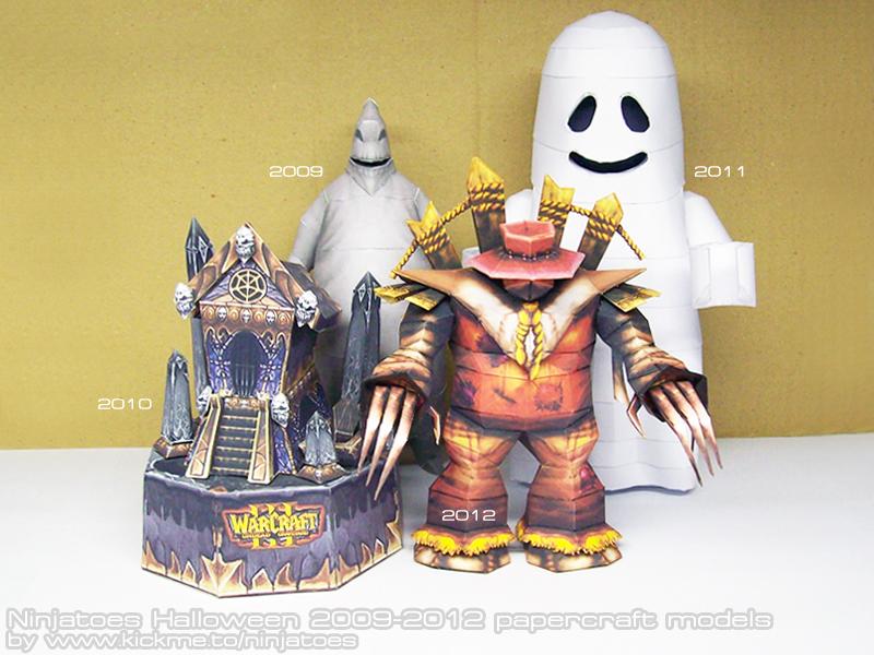 Ninjatoes papercraft Halloween models 2009-2012 by ninjatoespapercraft