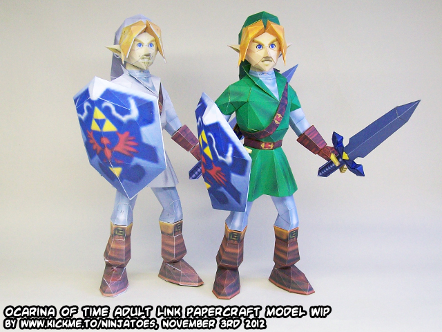 Papercraft Zelda OoT Menu Link WIP final version by ninjatoespapercraft