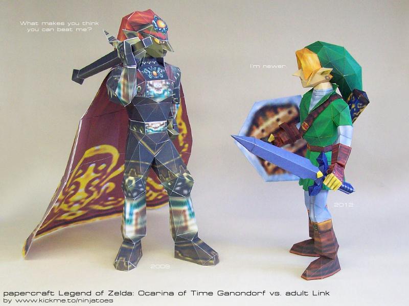 Papercraft Link vs papercraft Ganondorf by ninjatoespapercraft