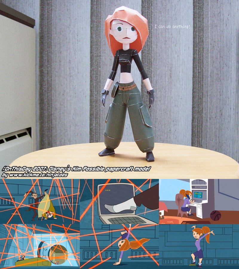 Papercraft Disney's Kim Possible (2007) by ninjatoespapercraft