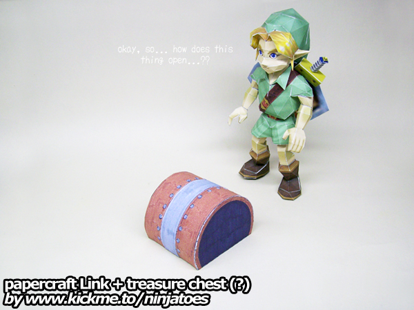 Papercraft Zelda Link vs Advance Wars Pipeseam by ninjatoespapercraft