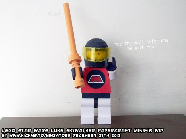 Papercraft LEGO M:Tron Jedi minifig by ninjatoespapercraft