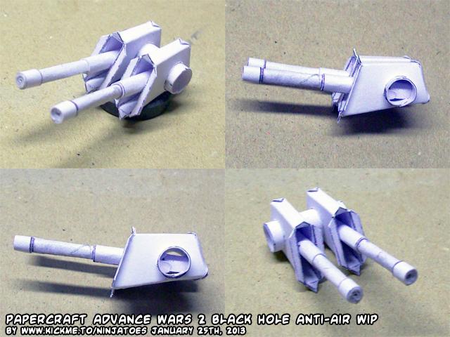Papercraft Advance Wars Black Hole A-air testbuild by ninjatoespapercraft