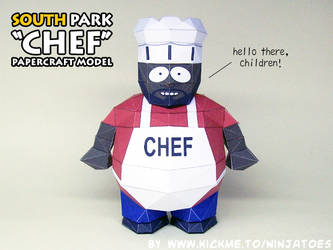 South Park Chef papercraft by ninjatoespapercraft