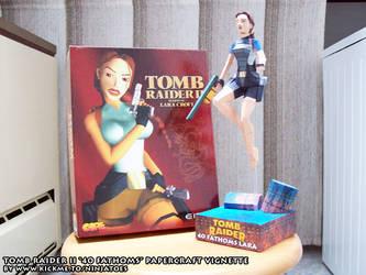 Tomb Raider II 40 Fathoms papercraft vignette by ninjatoespapercraft