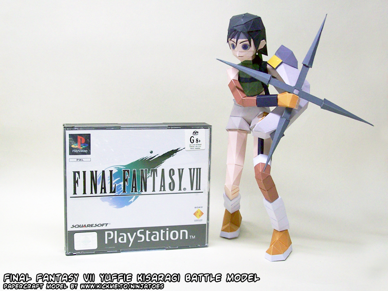 Papercraft Final Fantasy VII Yuffie Kisaragi by ninjatoespapercraft