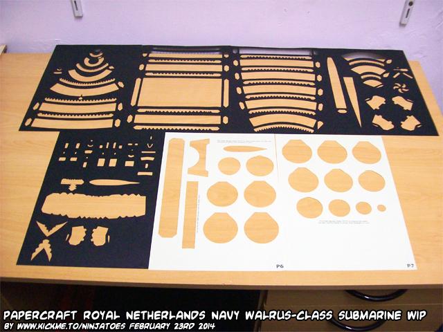 Papercraft Walrus-class submarine WIP 5a by ninjatoespapercraft
