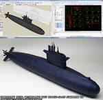 Papercraft Walrus-class submarine WIP 5b