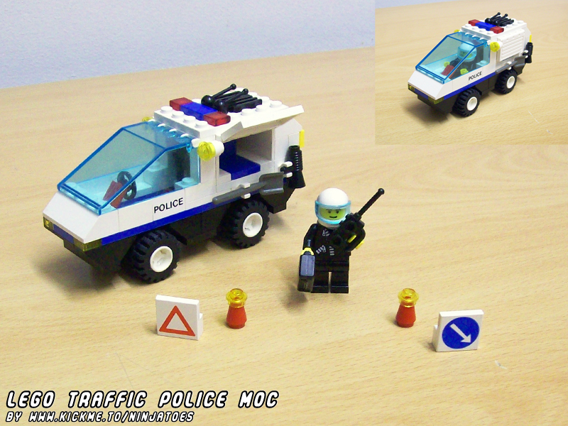 LEGO Traffic Police car MOC by ninjatoespapercraft
