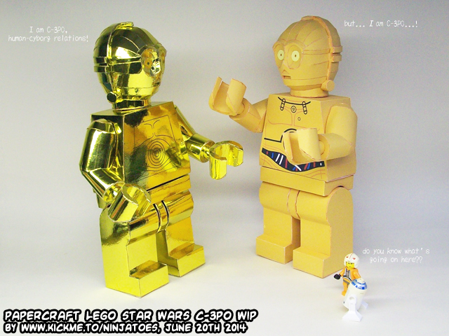 papercraft LEGO Threepio meets paper LEGO Threepio by ...