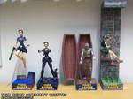Tomb Raider 2, 3 and 4 papercraft vignettes