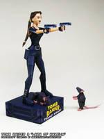 Tomb Raider Lara Croft catsuit papercraft vignette by ninjatoespapercraft