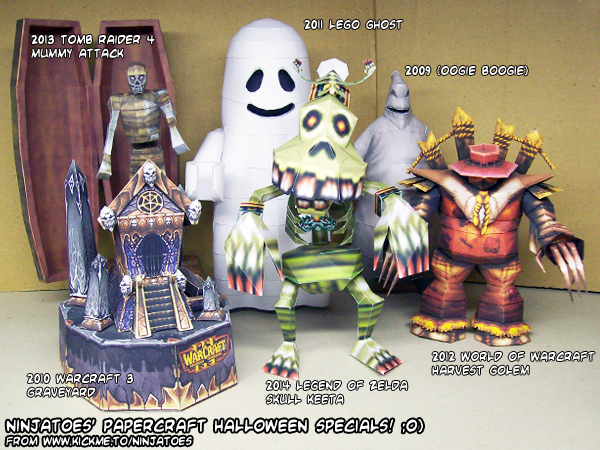 Papercraft Halloween Specials 2009-2014 by ninjatoespapercraft