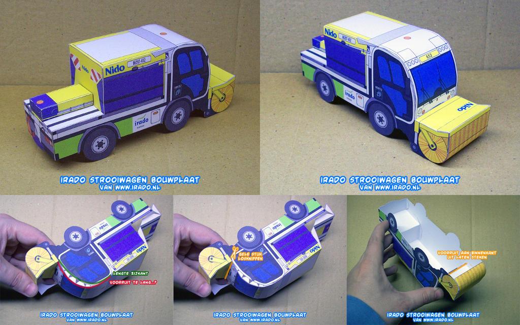 Iradostrooiwagenbouwplaatsamen by ninjatoespapercraft