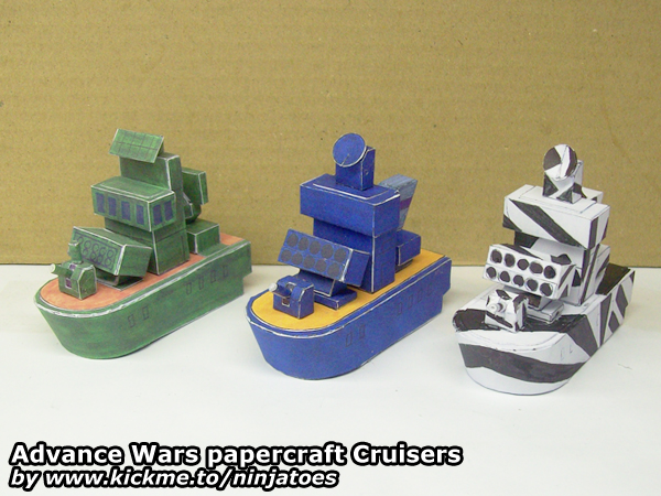 Papercraft Advance Wars Cruisers by ninjatoespapercraft