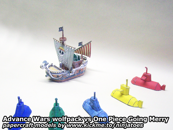 Advance Wars Subs vs One Piece Going Merry by ninjatoespapercraft