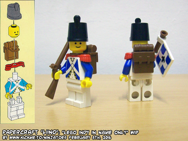 LEGO Pirates Imperial Soldiers by ninjatoespapercraft
