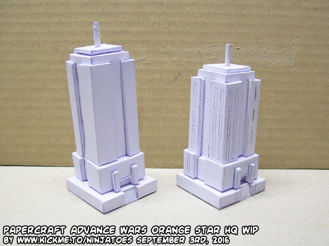 Papercraft Advance Wars OS HQ WIP by ninjatoespapercraft