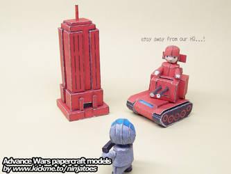 Papercraft Advance Wars Orange Star HQ by ninjatoespapercraft