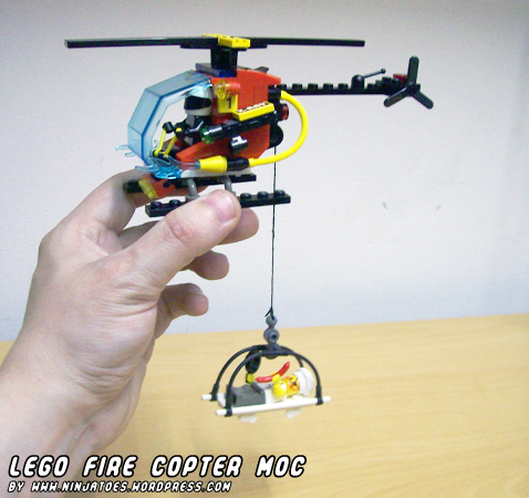 LEGO Fire Copter MOC by ninjatoespapercraft
