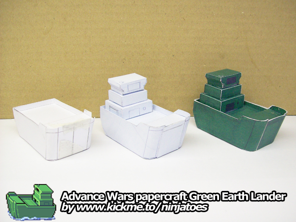 papercraft Green Earth Lander + test builds by ninjatoespapercraft