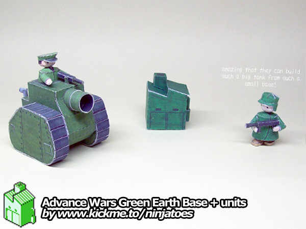 Big papercraft MD Tank gets built in small Base by ninjatoespapercraft