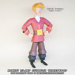 Guybrush Threepwood, Paper Pirate! by ninjatoespapercraft