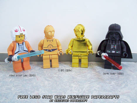 free LEGO Star Wars minifigures papercrafts