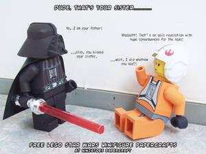 SPOILER ALERT! Papercraft LEGO Darth Vader vs Luke