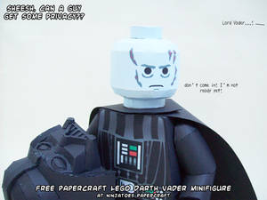 papercraft LEGO Star Wars Darth Vader's privacy