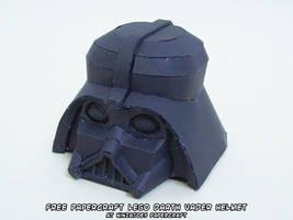 papercraft LEGO Star Wars Darth Vader helmet