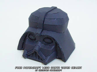 papercraft LEGO Star Wars Darth Vader helmet by ninjatoespapercraft