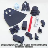 papercraft LEGO Star Wars Darth Vader pieces