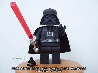Size matters building papercraft LEGO Darth Vader by ninjatoespapercraft