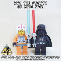 Happy papercraft LEGO Star Wars minifigures Day!