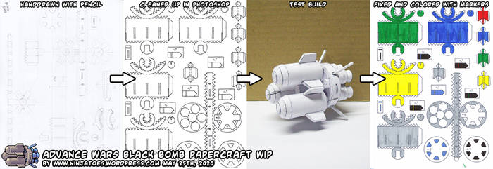 Advance Wars Black Bombs papercraft WIP
