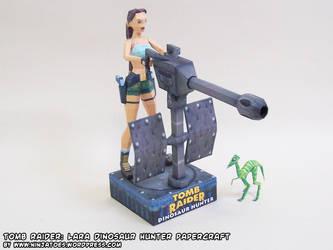 Free Lara Croft: Dinosaur Hunter papercraft