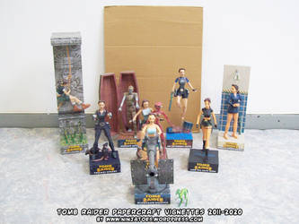 Tomb Raider papercraft vignettes July 2020