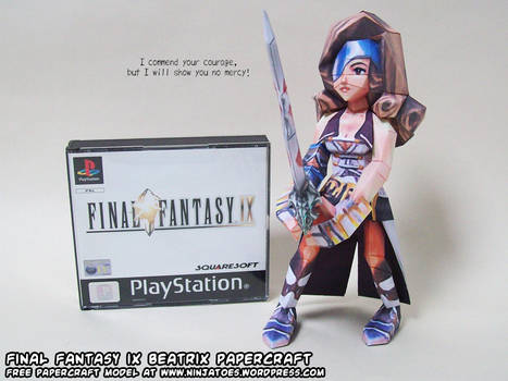 Papercraft Final Fantasy IX Beatrix release