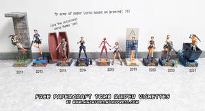 free papercraft TombRaider vignettes 2011-May 2021