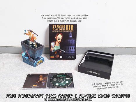 Tomb Raider 3 big box papercraft gift