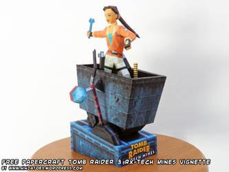 papercraft Tomb Raider 3 RX-Tech Mines vignette by ninjatoespapercraft