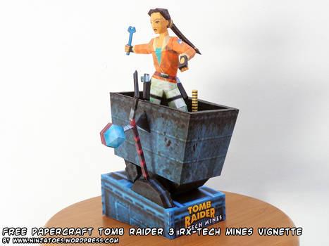papercraft Tomb Raider 3 RX-Tech Mines vignette