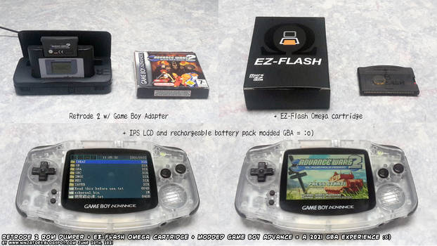 Clear GBA backlit LCD and battery pack mod