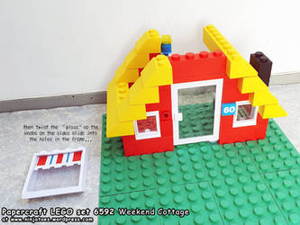 free papercraft LEGO set 6592 Vacation Hideaway