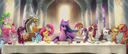 MLP Finale Collab (The Last Supper Parody) by Blackligerth