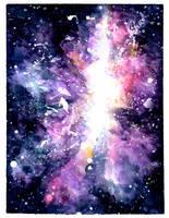 Burst Galaxy: Watercolor Texture