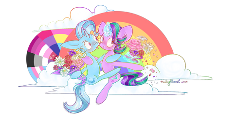 Starlight and Trixie - Flowers in the Sky