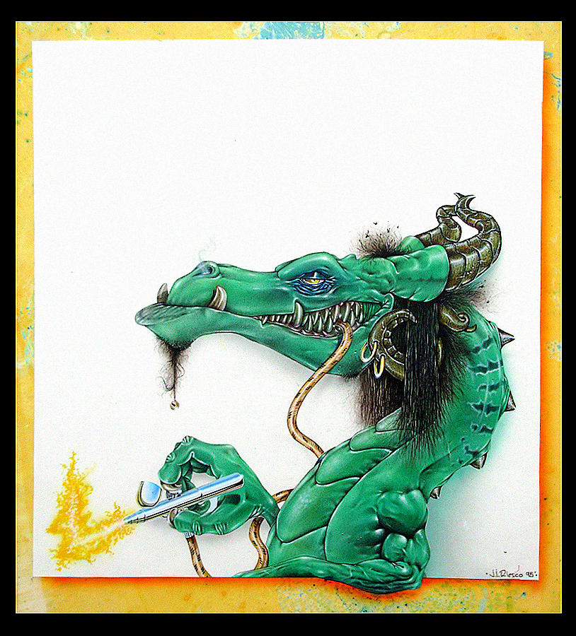 Airbrush dragon